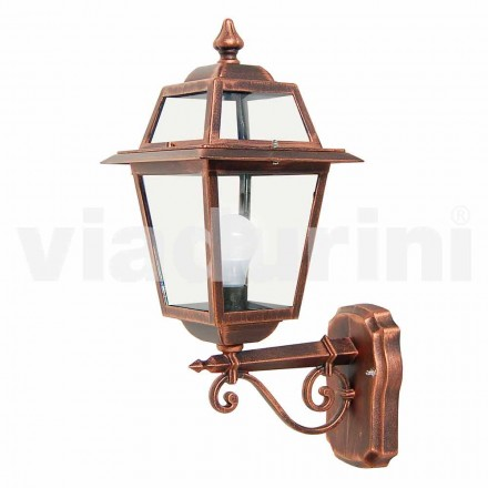 Havevægslampe lavet med aluminium, produceret i Italien, Kristel