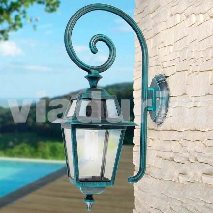 Havevægslampe mnade med aluminium, produceret i Italien, Kristel