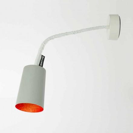 Designer væglampe In-es.artdesign Maling med malet cement