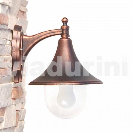 Udendørs væglampe fremstillet med støbt aluminium, fremstillet Italien, Anusca