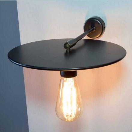 Håndlavet væglampe i sort jern eller Corten finish fremstillet i Italien - Ufo