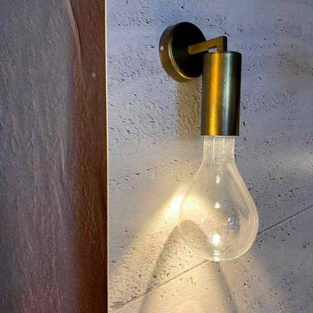 Håndlavet væglampe i aluminium og glas fremstillet i Italien - Ravenna
