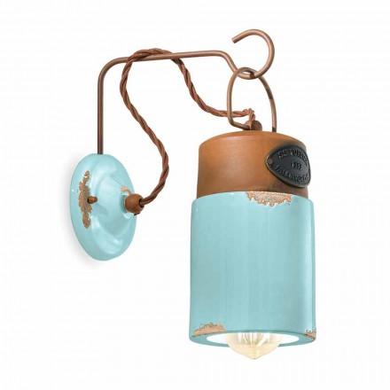 Væglampe i keramik og jern rust Desiree Ferroluce