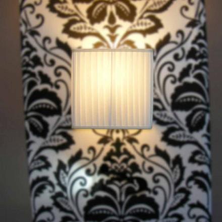 Moderne væglampe i bambusilke, elfenbenfarve