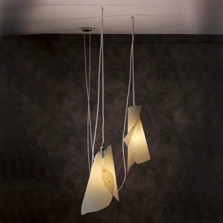 Vedhæng lampe med 2 lys, moderne design, Chrome