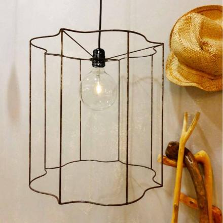 Designophæng / gulvlampe med Cigno bur