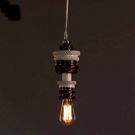 Design ophængslampe i keramik 3 finish fremstillet i Italien - futurisme