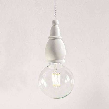 Lurvet keramisk lampe fremstillet i Italien - Skæbne af Aldo Bernardi