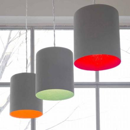 Designer vedhæng lampe In-es.artdesign Buk Paintet cement