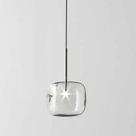 Design ophængslampe i metal og glas fremstillet i Italien - Donatina