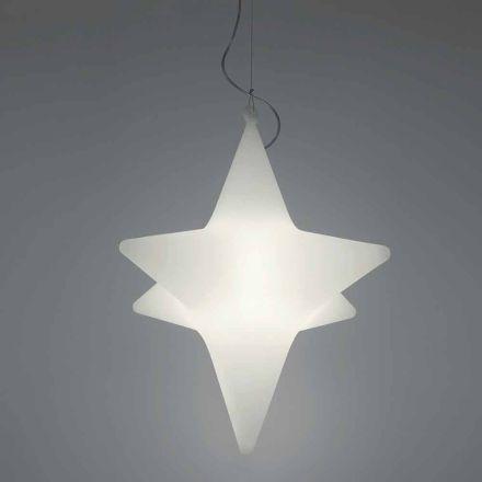 Indendørs stjerneformet LED-vedhængslampedesign af Slide - Sirio
