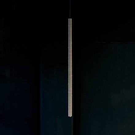 Ophængslampe i aluminium belagt med reb lavet i Italien - Ginia
