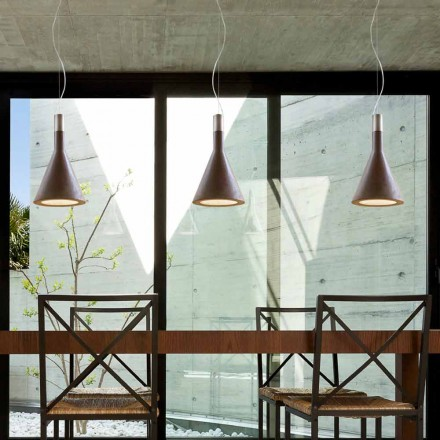 Lampe cement suspension Tragt Aldo Bernardi