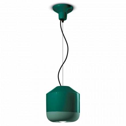Suspension lampe i farvet keramik fremstillet i Italien - Ferroluce Bellota