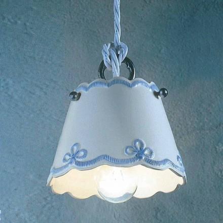 Lampe keramik lampe med farvet bånd Ferroluce
