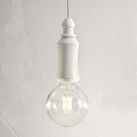 Keramisk Lurvet ophængslampe fremstillet i Italien - Skæbne Aldo Bernardi