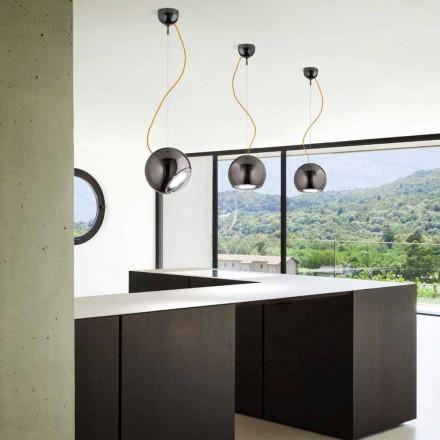 Lampe keramisk suspension kloden Aldo Bernardi
