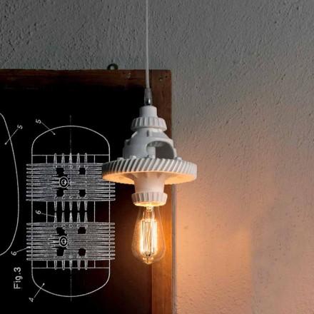 Ophængslampe i keramik i 3 finish af moderne design - futurisme