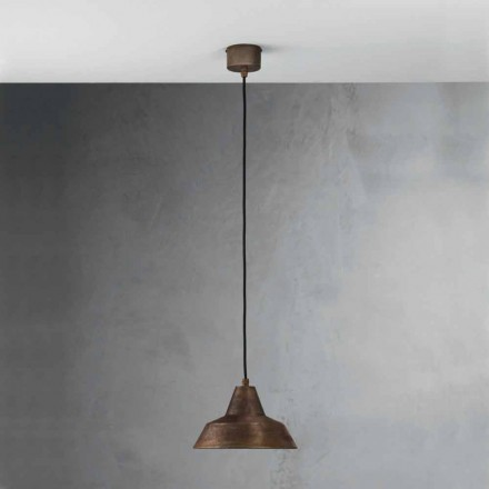 Lampe antik jern suspension klokke Virginia Il Fanale