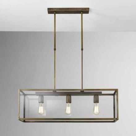 Lampe i jern suspension og London glas Il Fanale