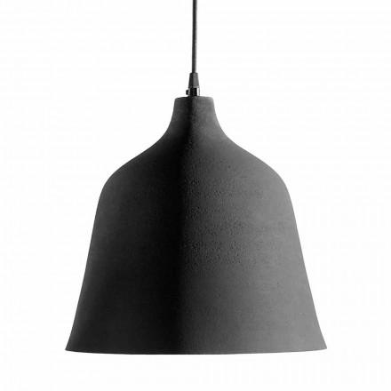 Ophængslampe i antracitstentøj og hvid indretningsdesign - Edmondo