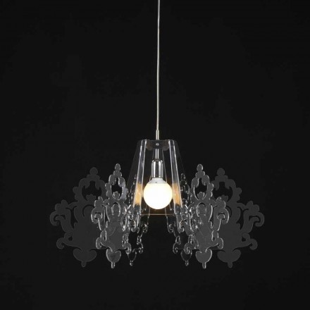 Lampe lavet af farvet methacrylat suspension Alessia, diameter 70 cm