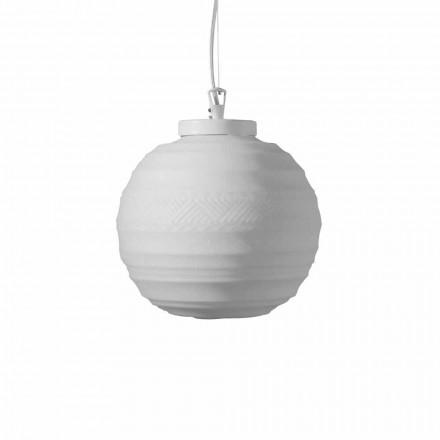 Ophængslampe i hvidt satinglas i 2 designstørrelser - Morse
