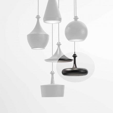 LED-ophængslampe fremstillet i Italien i keramik - L4 paljetter Aldo Bernardi