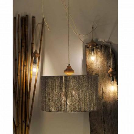 Moderne 4 lys vedhæng lampe med Bois træ del