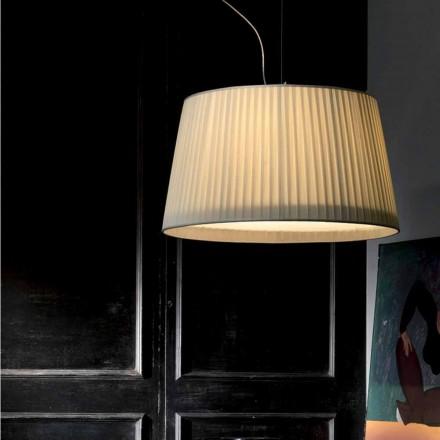 Moderne vedhængslampe i elfenben Bambusilke