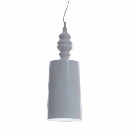 Hængelampeskærm i blank hvid keramisk design - Cadabra