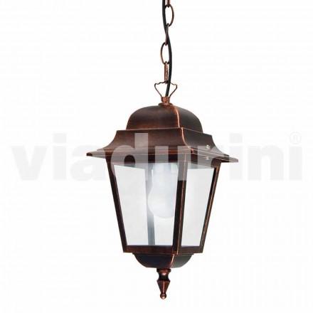 Udendørs vedhæng lampe lavet af aluminium, lavet i Italien, Aquilina