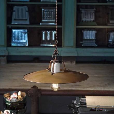 Hængende lampe Ferroluce håndværk industriel stil