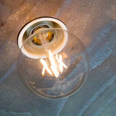 Håndlavet forsænket lampe i hvid aluminium fremstillet i Italien - Frana