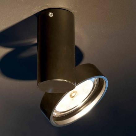 Håndlavet aluminiumslampe med justerbar ring fremstillet i Italien - Gemina