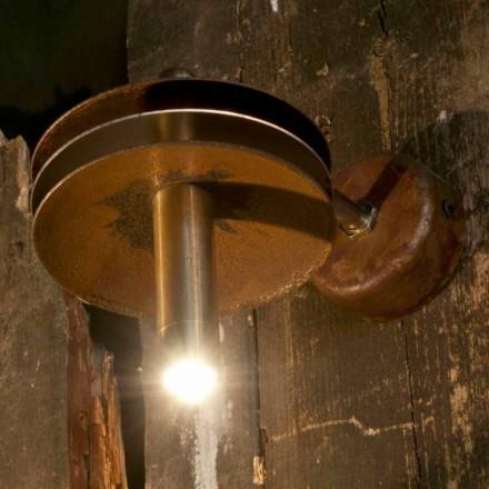 Håndlavet lampe i jerncorten og messingfinish fremstillet i Italien - Solano