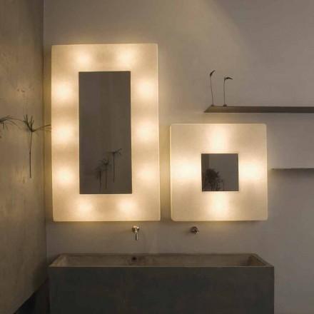 Design væglampe med spejl In-es.artdesign Ego i nebulit