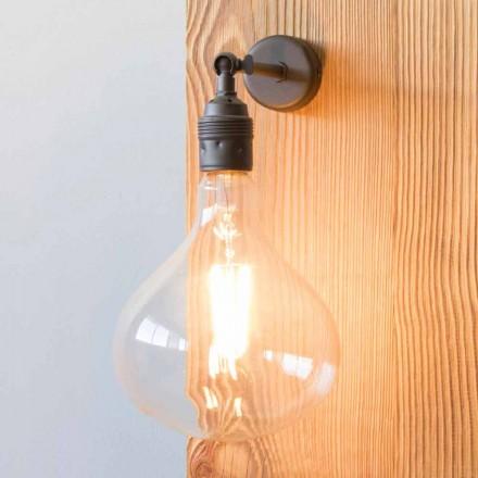 Lampe med håndlavet lakeret jernkonstruktion fremstillet i Italien - Alabama
