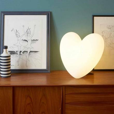 Farvet Slide Kærlighed bordlampe hjerte lavet i Italien