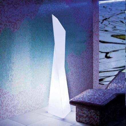 Prisma hvid udendørs lampe Slide Manhattan, lavet i Italien