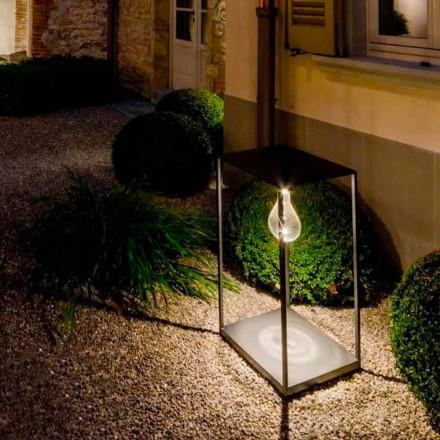 Håndlavet jern udendørslampe med integreret LED Made in Italy - Cubola