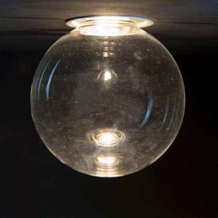 Aluminiumindbygget lampe med dekorativt glas Fremstillet i Italien - Ampolla