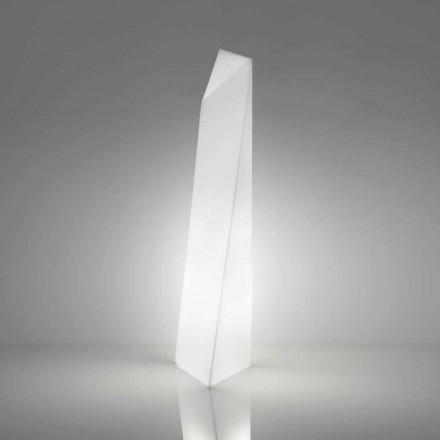 Moderne hvid prisma gulvlampe Slide Manhattan, lavet i Italien