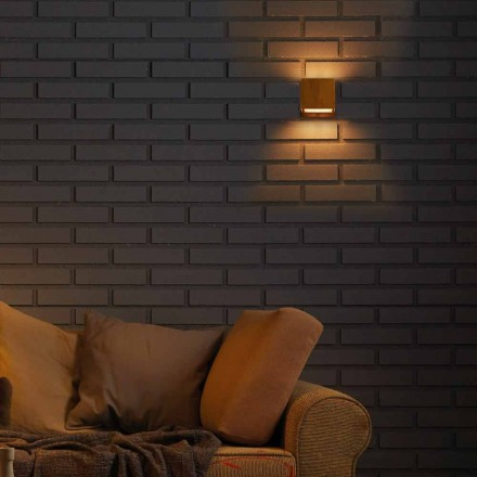 Lampe design væg i messing og stål 11xH11xsp.10 cm Venus