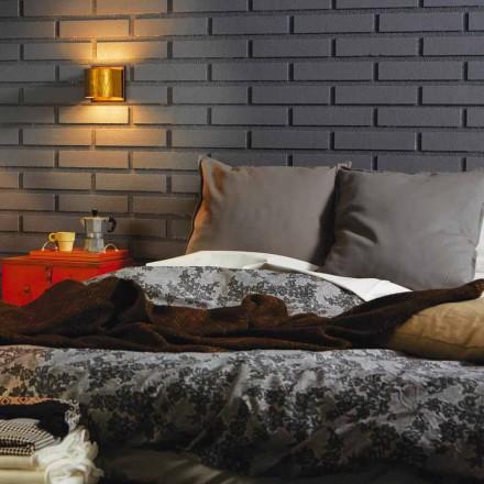 Moderne væglampe i messing og rustfrit 11x H11xsp.12 cm Bernadet