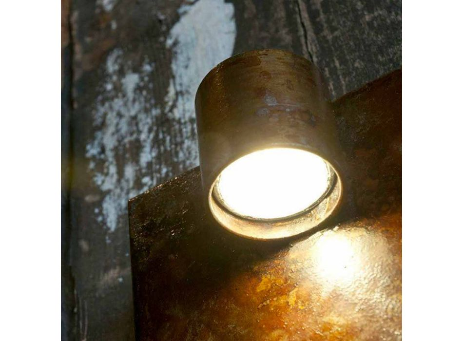 Artisan væglampe i jern Corten Finish Made in Italy - Cialda
