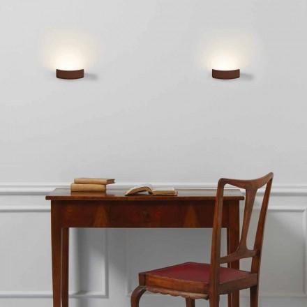 Lampe moderne design stål væg 13xH 3.5x Sp.10 cm Osea