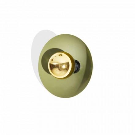 Moderne design væglampe i metal med guld dekoration Made in Italy - Valta