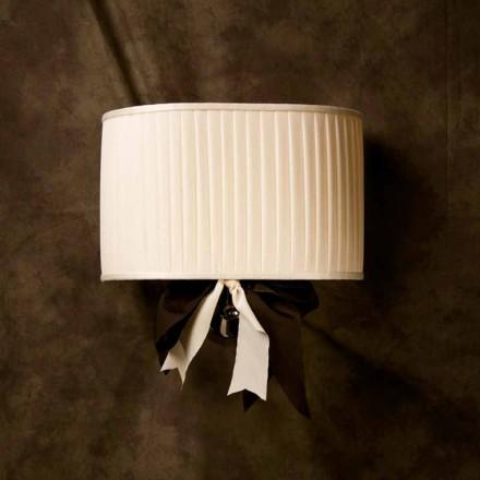 Chanel vintage design væglampe i elfenben silke
