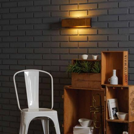 Lampe design mur af messing og rustfrit 35xH 10xsp.9 cm Harya